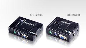 Aten KVM-Extender, 150mtr.1xPC, 2xMonitor, PS/2, VGA, 1280x1024