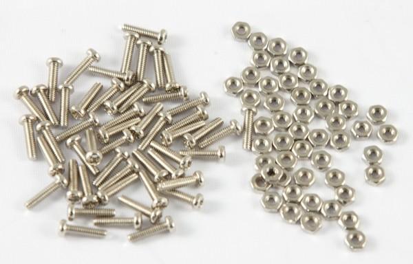 LWL-Kupplung, zbh.Befestigungsset für SC/LC/E2000, 50xSchrauben+Muttern, Synergy 21,