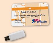 U&Z Zubehör CX2530 Verwaltungssoftware Keyng mit USB Funkstick
