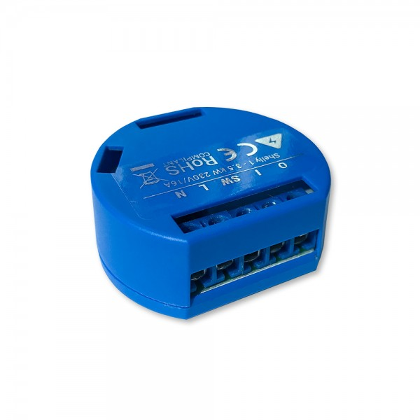 Shelly · Relais · 1 Wi-Fi WLAN Schaltaktor für 16A