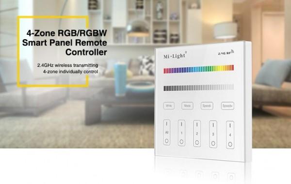 Synergy 21 LED Fernbedienung Smart Panel RGB/RGB-W 4 Zonen *MiLight*