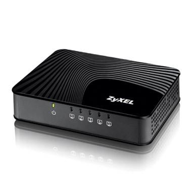 ZyXEL GS-105SV2 Desktop Gigabit Ethernet Media Switch, 5 Ports