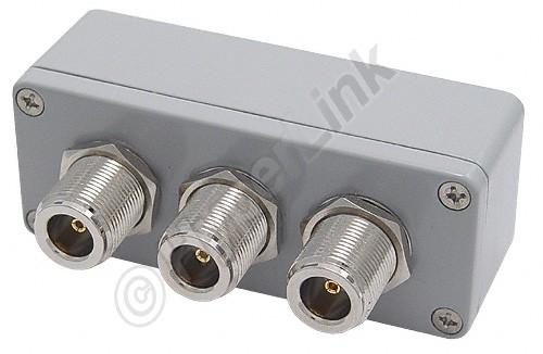 ALLNET Antennen-Splitter 2,4 GHz 2-Wege Signal Combiner