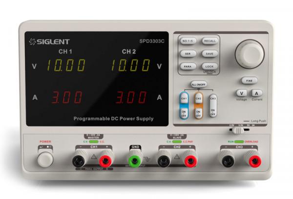 Siglent SPD3303C / 3-Kanal Labornetzteil, Auflösung 10mV-, 10A