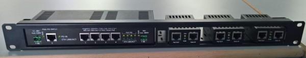 "ALLNET Switch Zubehör unmanaged 4 Port Gigabit LT-PoE 90W 19"" 1HE Patch Panel"
