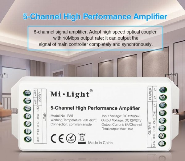 Synergy 21 LED Controller 5-Channel Amplifier *MiLight*