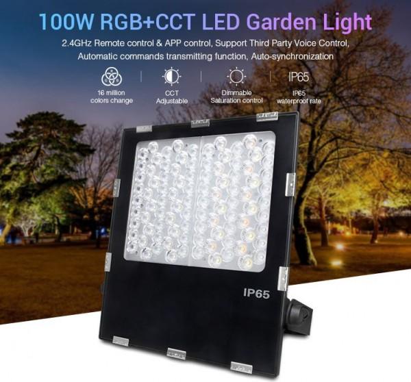 Synergy 21 LED Flächenstrahler 100W RGB-WW (RGB-CCT) IP65 230V *Milight/Miboxer*