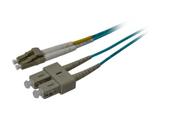 LWL-2-Faser-Patchk. 15mtr.LC-SC, 50/125um, OM3, AD=3mm, Synergy 21,