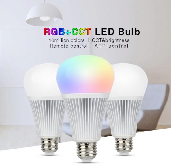 Synergy 21 LED Retrofit E27 9W RGB-WW Lampe mit Funk und WLAN *Milight/Miboxer*