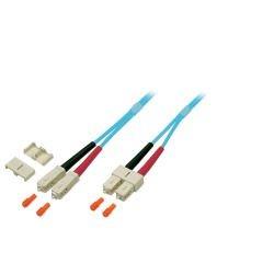 LWL-2-Faser-Patchk. 5mtr.SC-SC, 50/125um, OM3, AD=3mm,