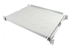 """ALLNET 19""""zbh. Fachboden ausziehbar, für 900mm Schrank tiefe, Lichtgrau, t650-750mm,"""