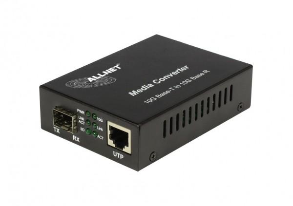 "ALLNET Medienkonverter 10GBASE-T auf 10GBASE-SX/LX Single-/Multimode SFP+ Mini-GBIC Anschluss ""ALL-MC109-SFP+"""