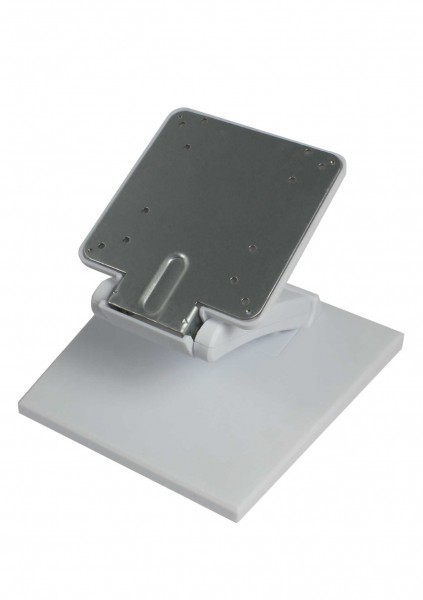 VESA Desktop Standfuß Halterung Flex für Tablet, Display, Monitor 7,5cm/10cm, weiß