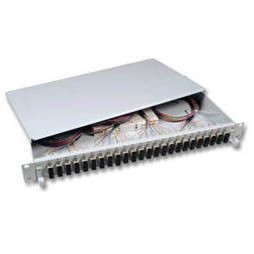 "LWL-Patchpanel Spleisbox,19"", 6xSC-Duplex, 9/125um, ausziehb"