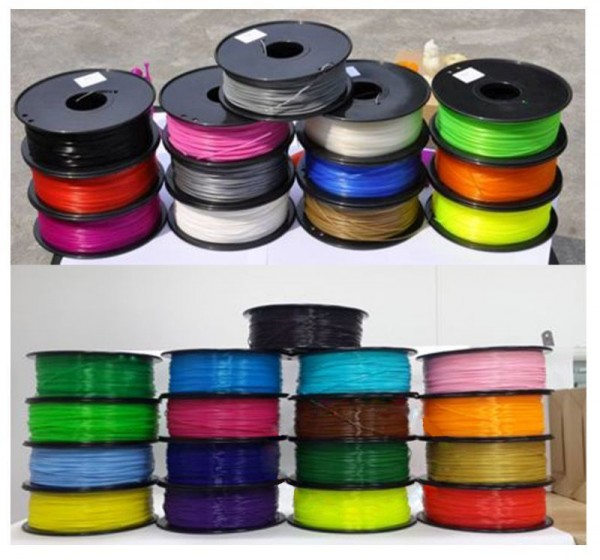 Synergy 21 3D filament PLA /Changing color / 3MM/ Grey to White