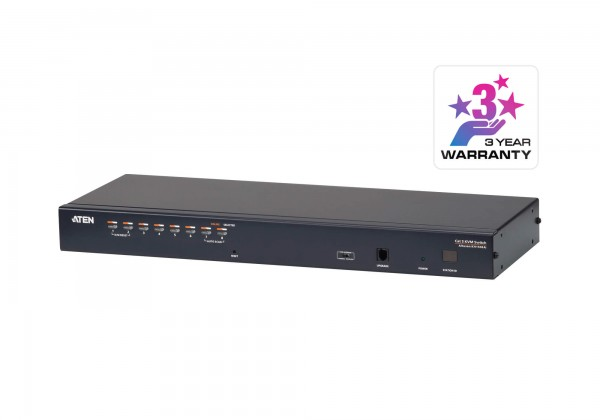 Aten KVM-Switch 8-fach TP(über Cat5 Kabel), 1xTP LAN