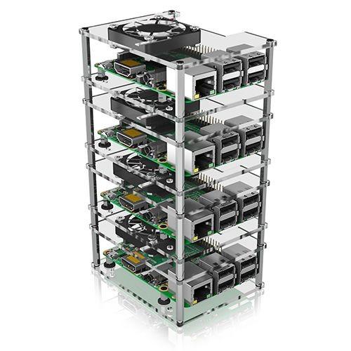 ICY Box Schutzgehäuse für Raspberry Pi® 2,3,4, 4-fach Gehäuse, IB-RP406 ,