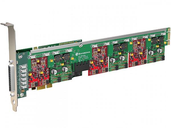 Sangoma A400 10xFXO analog Karte mit Echo Unterdrückung PCIe