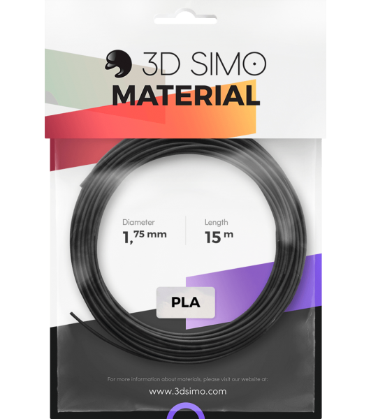 3Dsimo Filament PLA 1 schwarz, gold & grau