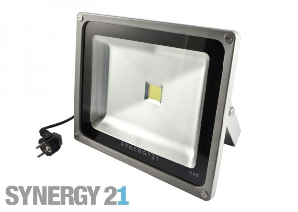 Synergy 21 LED Spot Outdoor Baustrahler 30W graues Gehäuse - warmweiß V2