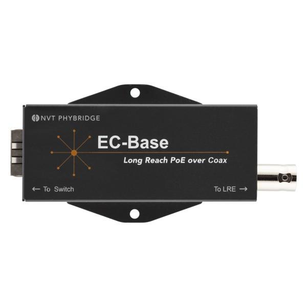 Phybridge Switch CLEER PoE over Coax zub. EC-Base: Long Reach PoE++ extender for EoC