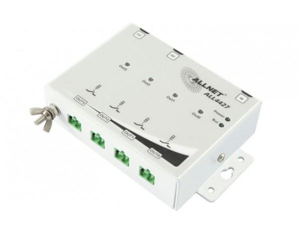 ALLNET ALL4427 / Relaismodul 4 Port 250V / 10A im Metall-Gehäuse