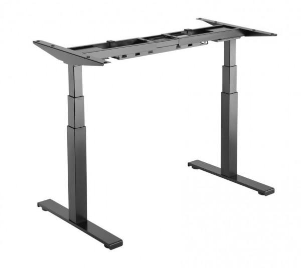 ICY Box Ergonomische Workstation für einen Arbeitsplatz für das Arbeiten im Sitzen oder Stehen, * Ohne Tischplatte!, IB-EW204B-T,