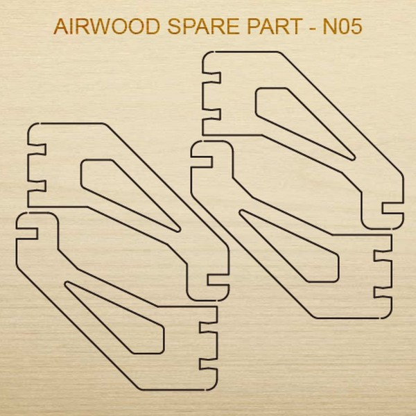 Airwood Holz Ersatzteil N05 / Spare Wood Part N05