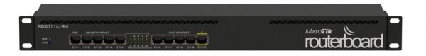 MikroTik RouterBOARD RB2011iL-RM, 5x Gigabit, 5x 10/100, Rackmount