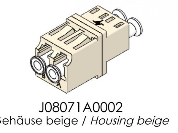 Telegärtner LWL, Kupplung LC/LC, MM, Einschnappmontage, Beige, OM2,