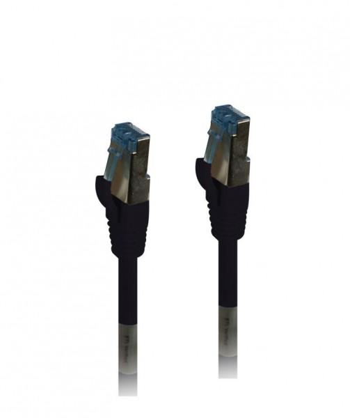 Patchkabel RJ45, CAT6A 500Mhz, 3m, schwarz, S-STP(S/FTP), TPE(Superflex), AWG26, Synergy 21