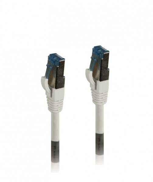 Patchkabel RJ45, CAT6A 500Mhz, 3m, weiss, S-STP(S/FTP), TPE(Superflex), AWG26, Synergy 21