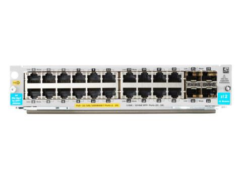 HP Switch Modul, ZL-Serie, 10-1000Mbit 20xTP, 4xSFP/SFP+-Slot, POE+, v3 zl2,