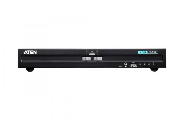 Aten KVM-Switch 2-fach Audio/DP(Displayport), USB, Secure,