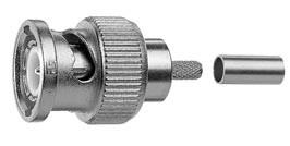 Telegärtner Kabelstecker, BNC, 75Ohm, HDTV/DTV 29 dB/3 GHz, Cr/Cr