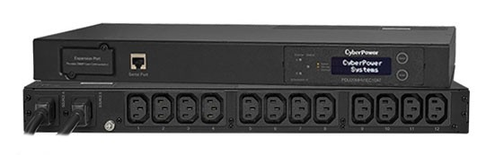 CyberPower PDU, Switched, 230V/10A, 1HE, 12xC13Ausgang, 2xC14 Eingang,
