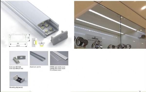 Synergy 21 LED U-Profil 200cm, ALU014 schwarz/black