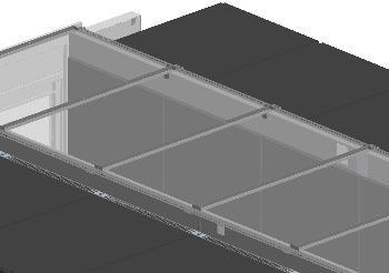 Knürr SmartAisle™ Dachelement – L2400 - Gangbreite: 1500 mm - RAL 7021