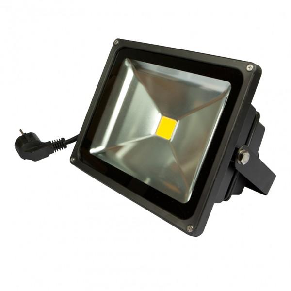 Synergy 21 LED Spot Outdoor Baustrahler 30W schwarzes Gehäuse - warmweiß V2