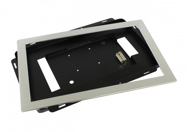ALLNET Touch Display Tablet 15,6 Zoll zbh. Einbauset Einbaurahmen + Blende Silber Schmal