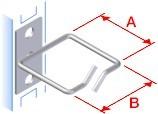 """Triton 19""""zbh. Kabelbügel einzel, A80xB40mm, außen, vorne o,"""