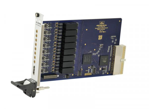 ALLDAQ ADQ-256-cPCI / CompactPCI-Messkarte mit 8 potentialfreien Spannungseingängen, 16 bit A/D-Wandler bis 2 MS/s synchron, ext. Trigger, 8 Digital-I