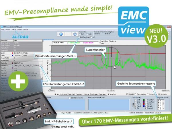 ALLDAQ EMCview / EMV-Precomplicance-Software