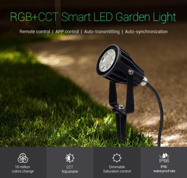 Synergy 21 LED Garten Lampe 6W RGB-WW mit Funk und WLAN IP65 230V *MiLight*