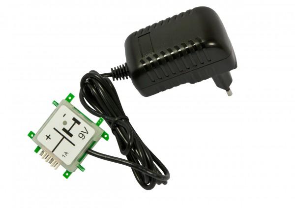ALLNET Brick'R'knowledge Netzteiladapter 9V 1A Sicherung und Masse