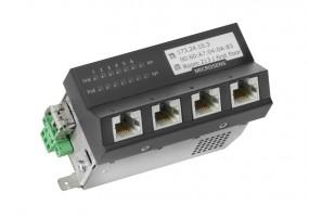 Microsens Micro-Switch 45x45 ruggedized, Hutschiene 24V, vertikal, 4xRJ45, 2xSFP, MS440217MXH-24G6