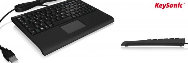 "ALLNET 19""Schrank, zbh. Tastaturboden, zbh. Tastatur, USB, mit Touchpad, KeySonic,"