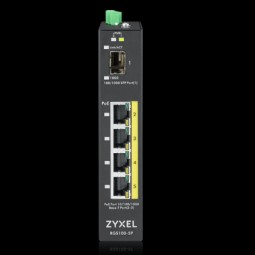 ZyXEL Switch PoE industrial unmanaged 4 Port RJ45, 1x SFP , RGS100-5P