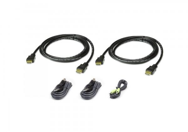 Aten Verbindungskabel Secure HDMI, Dual, 1,8m, USB, Audio