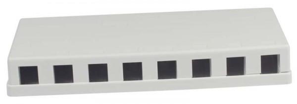 Keystone, Modulträger, Patchpanel für 8x TP-Modul , Aufputz, weiss(PVC), Synergy 21,